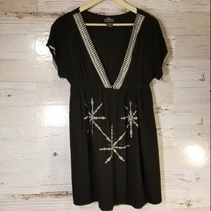 ANGIE embroidery short sleeve dress